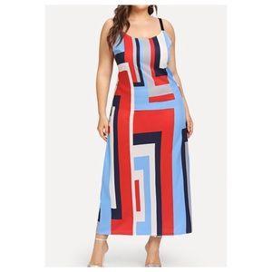 Dresses & Skirts - ➕Geometric design maxi dress